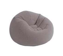 Dorms Lack Seating - Contoured Corduroy Seat - Inflatable College Furniture (Gray) - Cool Dorm Seat