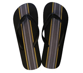 Black with Vertical Stripes - Shower Sandals Just For Guys