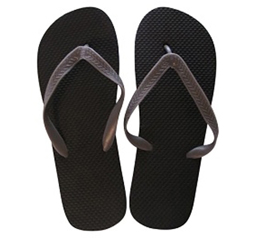 Neutral Guy Colors - Black with Grey Strap - Perfect Shower Sandal For College Men