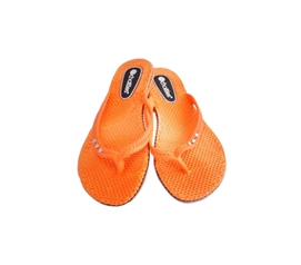 Bright & Vibrant Flip Flops - Orange Chatties Shower Sandal