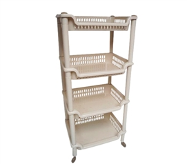 4-Shelf Dorm Storage