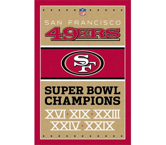 Sports posters for sports fans 49ers champions poster for 49ers room decor