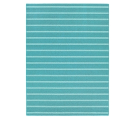 Great Decor For Dorms - Classic Stripes College Rug - Teal - Cover Those Bare Floors