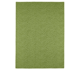 Great Area Rug For Dorms - Zebra 4' x 6' Rug - Lime - Enhance Dorm Decor
