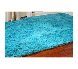 Cover Bare Dorm Floors - College Plush Rug - Keep Feet Comfy