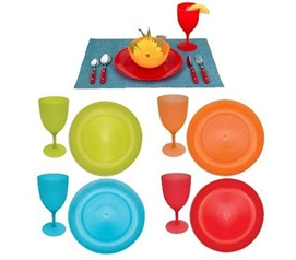 Dorm Dishes -Plate And Glass 8-Piece Combo Set