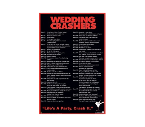 Wedding Crashers Funny College Dorm Wall Poster Dorm Room