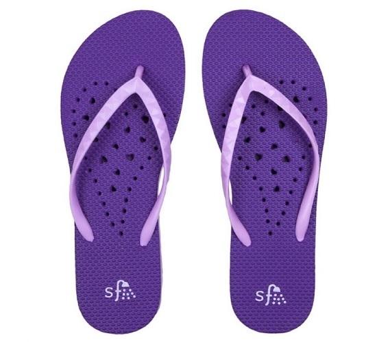 Showaflops Women S Antimicrobial Shower Sandal Violet Lavendar