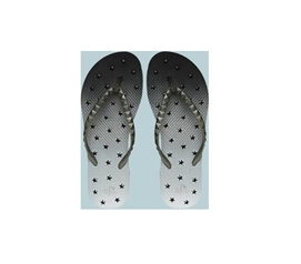 Showaflops - Women's Antimicrobial Shower Sandal - Ombre Stars Shower Flip Flops