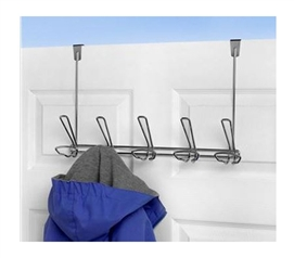 5 Hook Hat And Coat Over-Door Hanger