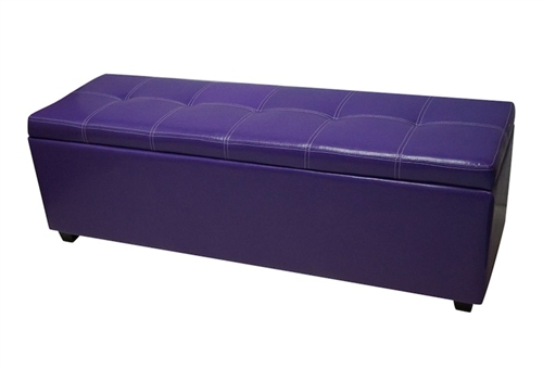 Ssb rpur Purple storage bench