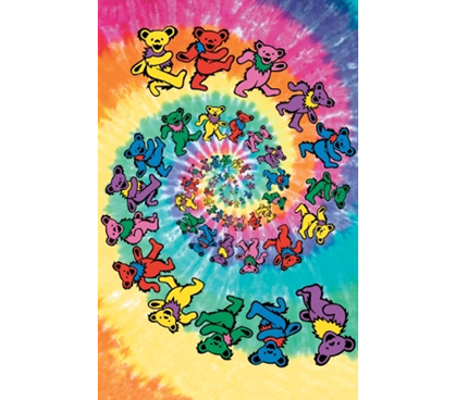 The Grateful Dead - Colorful Bears Dorm Posters College Supplies ...