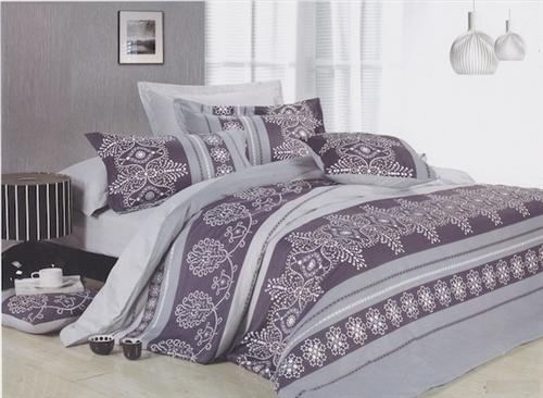 Purple Henna Twin Xl Comforter Set College Dorm Room