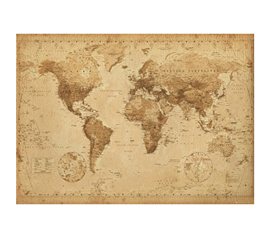 Adds A Cool Decorative Element - Wall Sized World Map - Great Studying Aid