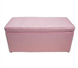 The Dorm Bench - Storage Seating - Calm Pink Dorm Room Storage