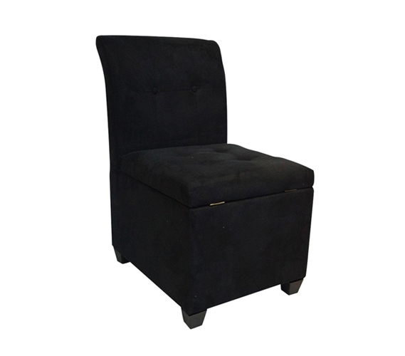 The original ottoman chair 2 in 1 storage seat black for Storage ottoman seat