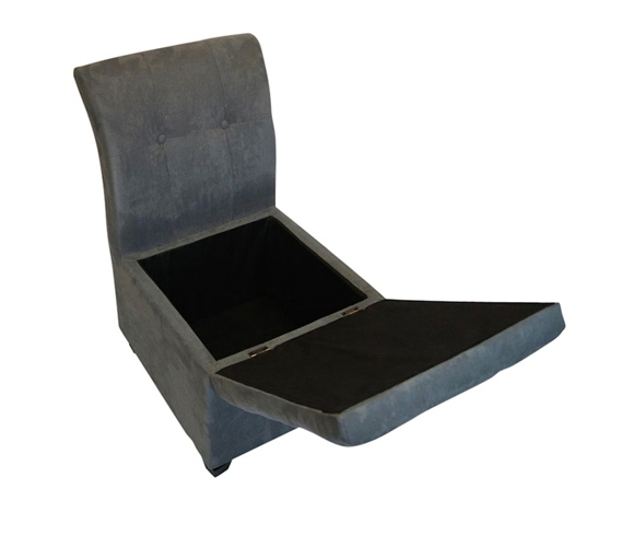 The original ottoman chair 2 in 1 storage seat smoke gray for Storage ottoman seat