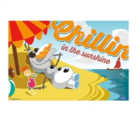 Best Stuff For College - Olaf Chillin' In The Sunshine Poster - College Shopping Essentials