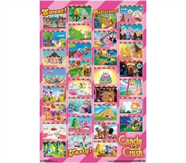 Candy Crush - Worlds Grid Poster