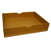 The Storage MAX - Underbed Wooden Organizer With Wheels - Beech Dorm Room Storage