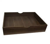 The Storage MAX - Underbed Wooden Organizer With Wheels - Black Walnut College Supplies College Dorm Storage