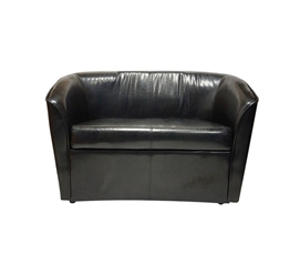 The Two-Seater Dorm Sofa - Black