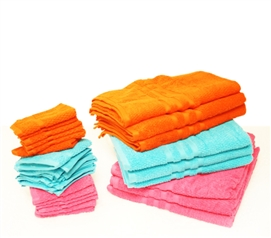Towel and Washcloth Set - Plush Brights College Supplies
