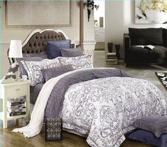 Intelligent Design Senna Comforter Set Twin/Twin XL Size - Black/Gray, Damask – 4 Piece Bed Sets – All Season Ultra Soft Microfiber Teen Bedding - Great for Dorm Room and Girls Bedroom.
