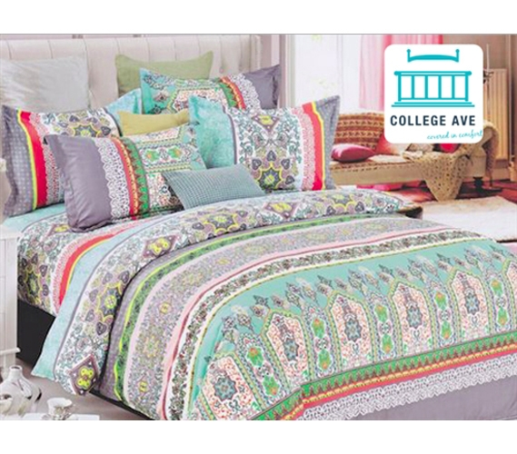mint haze dorm bedding for girls extra long twin comforter. Black Bedroom Furniture Sets. Home Design Ideas