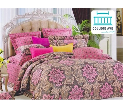 Orchard Pink Dorm Bedding For Girls Twin Xl Comforter Set