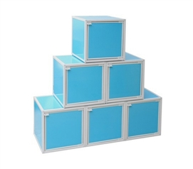 Great Design - Easy-Storage College Cubes - Aqua - Useful Storage Supplies For Dorms