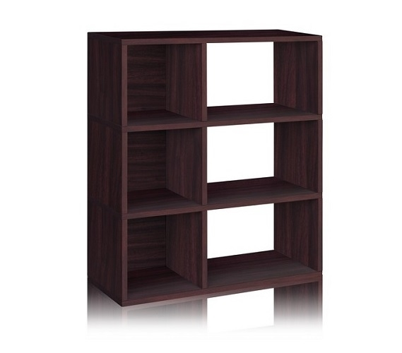 Dorm Essentials 3 Shelf Dorm Storage Bookcase Espresso
