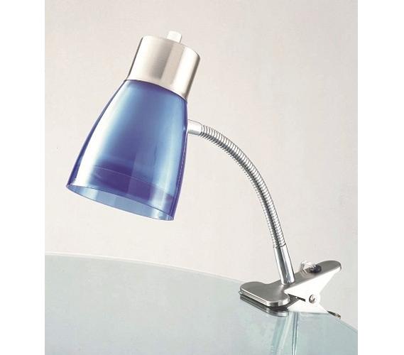 Aglow Dorm Clip Lamp Blue College Products Desk Lamps