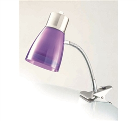 Aglow Dorm Clip Lamp - Purple