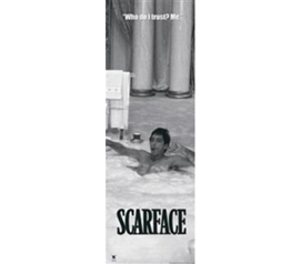 Decorative Design Of Iconic Scarface - Tub B & W Poster