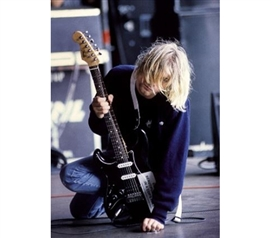 Kurt Cobain On Stage Poster