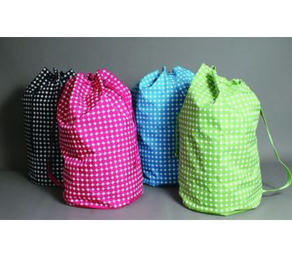 polka dot laundry tote - green must have dorm products college