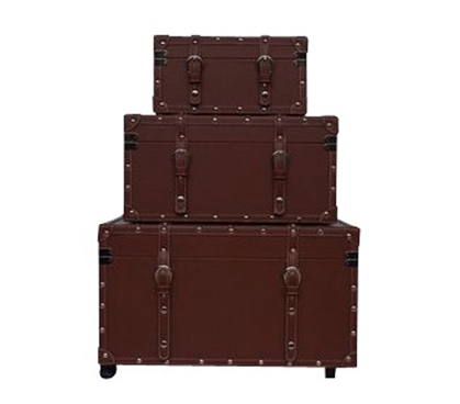 The College Girl Dorm Trunk   Brown