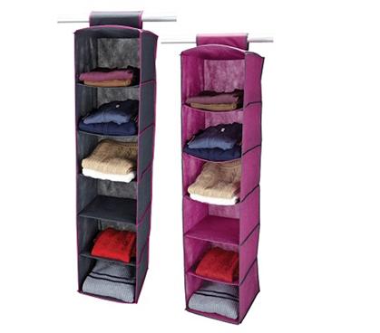 Dorm Room   6 Shelf Closet Organizer   Pewter U0026 Orchid