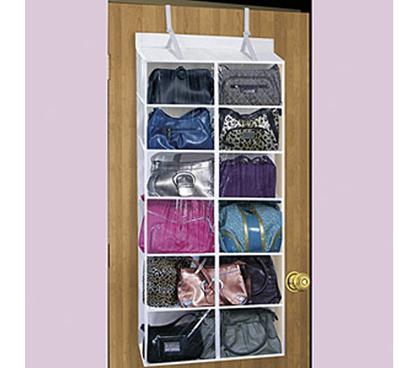 Beautiful Must Have Dorm Organizer   Over The Door Purse Organizer   Keep Dorm Room  Organized