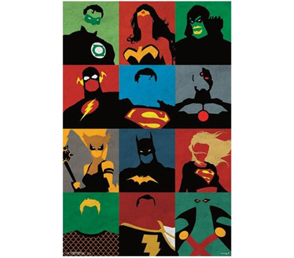 Justice League - Minimalist Poster Dorm Room Products Wall Decor ...