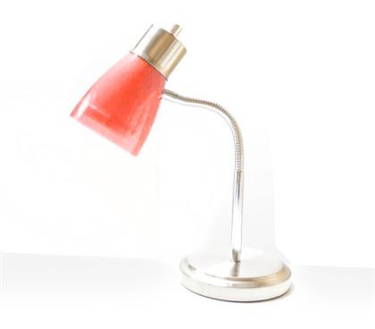 Useful Dorm Supply - Gooseneck College Desk Lamp - Red - Great For Studying  In College - Gooseneck College Desk Lamp - Red College Products Dorm Room