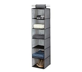 College Closet Essential   6 Shelf Sweater Organizer   Gray With Black Trim    Great