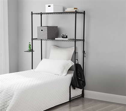 Gunmetal Gray Over The Bed Shelf Supreme For Twin Xl Sized