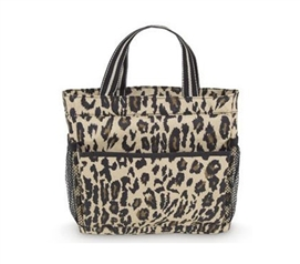 Bath Essentials - Classic Leopard Style Caddy - Shower Supplies