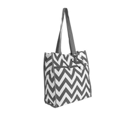 Chevron Tote Compact Carrier - Gray - Laptop Bag - College Backpack