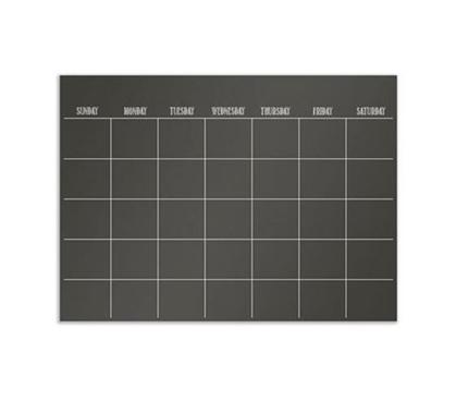 Black Wall Calendar Peel N Stick College Poster Dorm