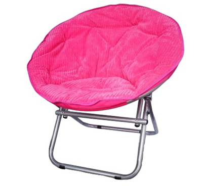 Superieur Adds To Dorm Decor   Comfy Corduroy Moon Chair   Neon Candy Pink   Cool Dorm