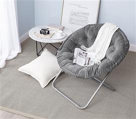Bon Comfort Padded Dark Gray Moon Chair Dorm Decor