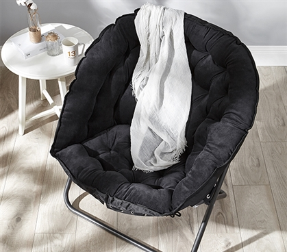 Papasan Moon Chair Black Comfy And Cheap Dorm Chair